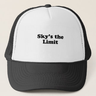 sky's the limit trucker hat