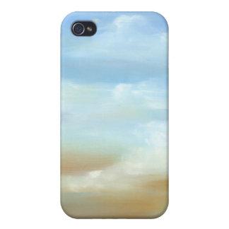 Skyscape hermoso con las nubes mullidas iPhone 4/4S carcasas