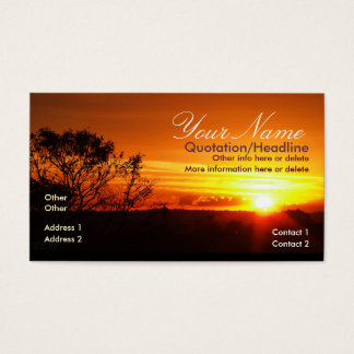 Skyscape sunset Business Card