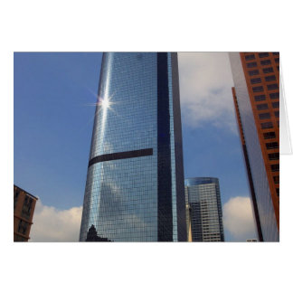Skyscapers Downtown Greeting Card