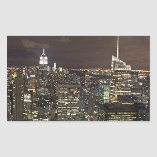 skyscapers rectangular sticker