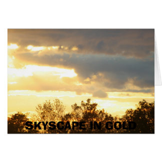 SKYSCAPES IN GOLD GREETING CARD