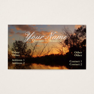 Skyscapes sunset Silhoutte Business Card