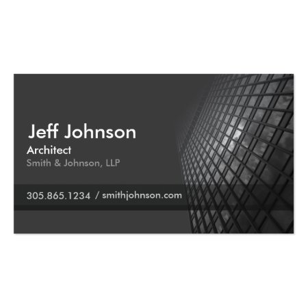 Black Skyscraper Customizable Architect Business Cards