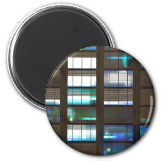 Skyscraper by Night - 2 Inch Round Magnet
