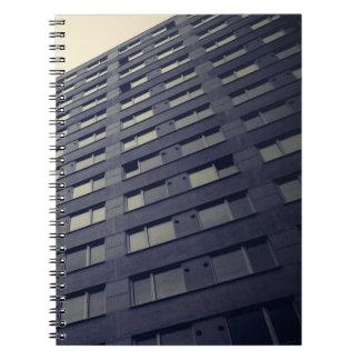 Skyscraper exterior view spiral notebook
