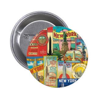 Skyscraper of New York Pinback Button