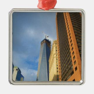 Skyscraper Reflections of New York Metal Ornament