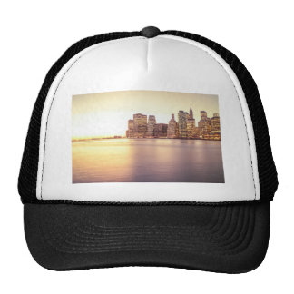 Skyscraper Skyline - New York City Sunset Hats