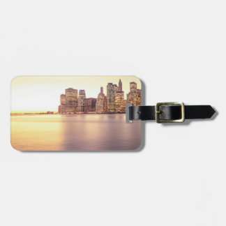 Skyscraper Skyline - New York City Sunset Tags For Bags