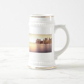 Skyscraper Skyline - New York City Sunset Coffee Mugs