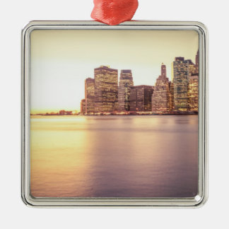 Skyscraper Skyline - New York City Sunset Christmas Ornaments