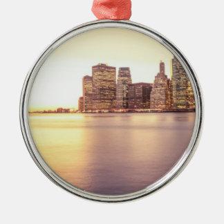 Skyscraper Skyline - New York City Sunset Ornaments