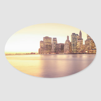 Skyscraper Skyline - New York City Sunset Sticker