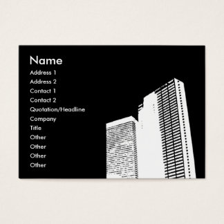 Skyscraper Whiteout   Business Card