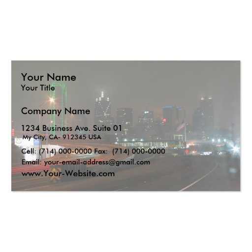 Texas Business Card Templates Page4