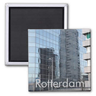 Skyscrapers 2 Inch Square Magnet