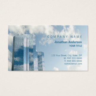 Skyscrapers and Clouds business card
