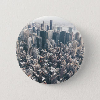 Skyscrapers and Rooftops of New York City Button