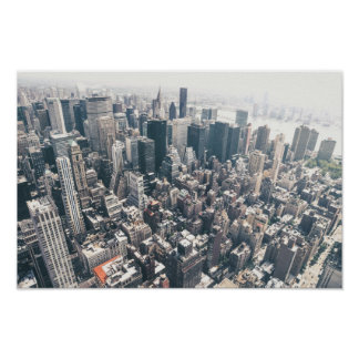 Skyscrapers and Rooftops of New York City Print