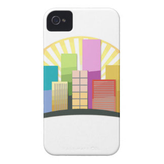 Skyscrapers and sun showing a urban city iPhone 4 Case-Mate case