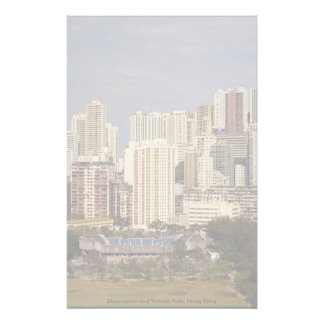 Skyscrapers and Victoria Park, Hong Kong Stationery