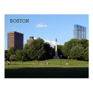 Skyscrapers Boston Common Summer Evening Postcard