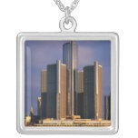 Skyscrapers by the water in Detroit 3 Necklaces