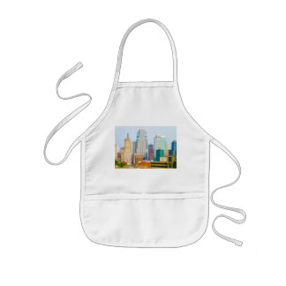 Skyscrapers High Rise Downtown Kansas City Skyline Kids' Apron
