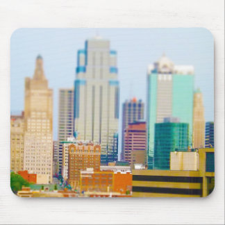 Skyscrapers High Rise Downtown Kansas City Skyline Mousepads