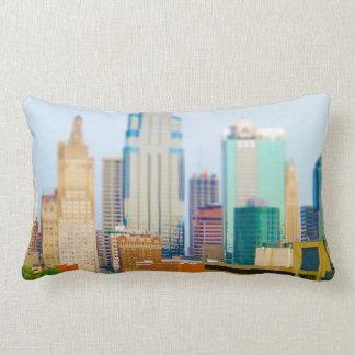Skyscrapers High Rise Downtown Kansas City Skyline Throw Pillow
