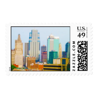 Skyscrapers High Rise Downtown Kansas City Skyline Postage