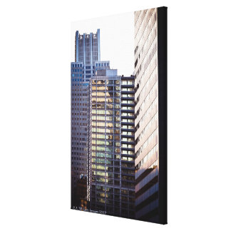 Skyscrapers in Chicago's financial district Canvas Print