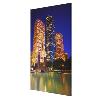 Skyscrapers in downtown Houston reflected in Canvas Print