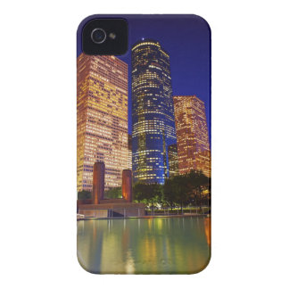 Skyscrapers in downtown Houston reflected in iPhone 4 Cover