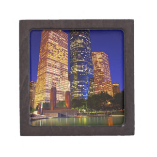 Skyscrapers in downtown Houston reflected in Premium Jewelry Box
