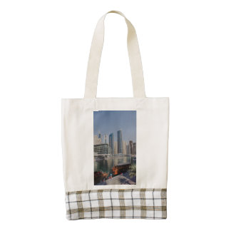 Skyscrapers in Dubai Marina Zazzle HEART Tote Bag