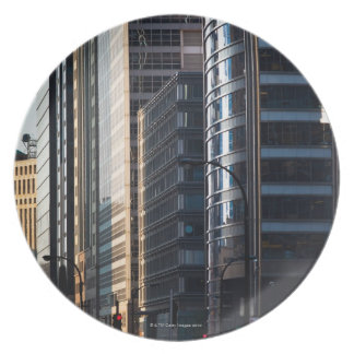 Skyscrapers line Chicago's financial district Melamine Plate