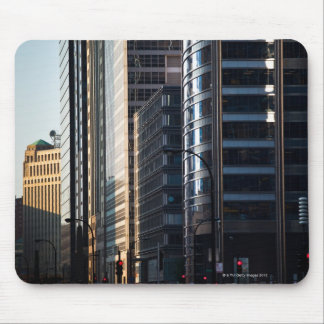 Skyscrapers line Chicago's financial district Mouse Pad