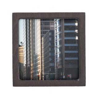 Skyscrapers line Chicago's financial district Premium Keepsake Boxes
