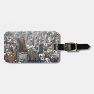 skyscrapers travel bag tags