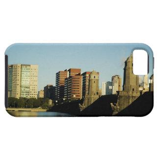 Skyscrapers near a bridge across a river, iPhone SE/5/5s case