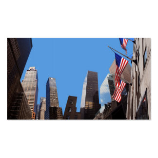 Skyscrapers New York business card