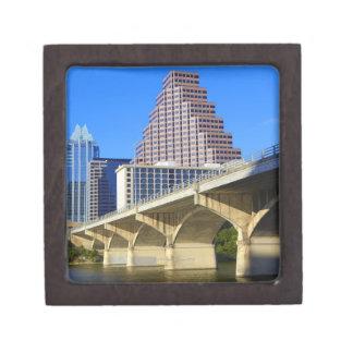 Skyscrapers of Downtown Austin and Colorado Premium Keepsake Boxes
