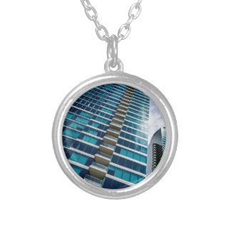 Skyscrapers of Downtown San Francisco Silver Plated Necklace