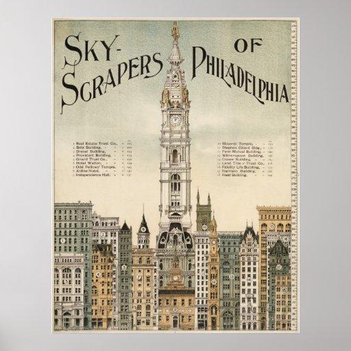 Skyscrapers of Philadelphia Poster