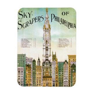 Skyscrapers of Philadelphia Rectangular Magnet