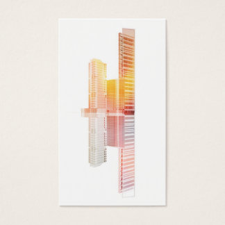 Skyscrapers towers business card