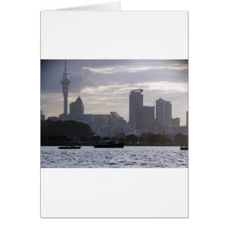 Skytower and Cityscape Greeting Card