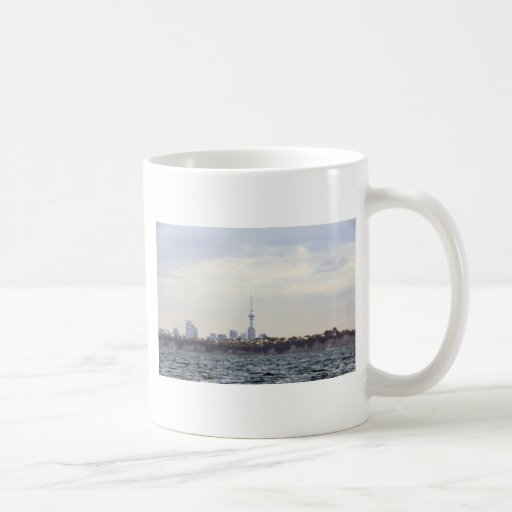 Skytower and Cityscape Classic White Coffee Mug